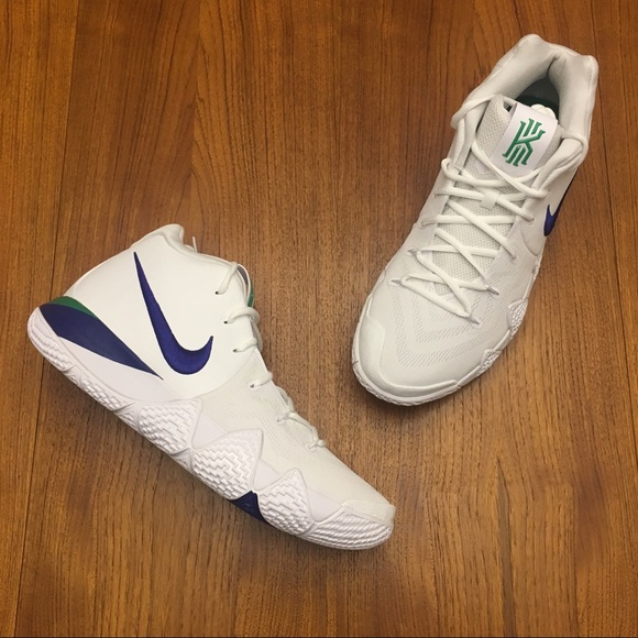 hot sale online b6020 904b9 Kyrie 4 White Deep Royal Blue New Size 13